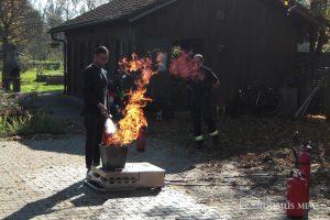 Brandschutzübung in Erharting