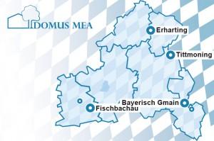 Standorte der Domus Mea-Gruppe