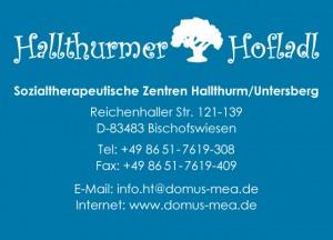 Logo und Adresse Hallthurmer Hofladl