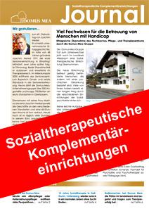 Das Domus-Mea-Magazin über seine Sozialtherapeutischen Einrichtungen