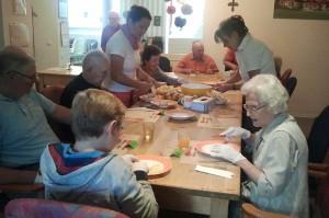 Kochgruppe in der Reichenhaller Tagespflege