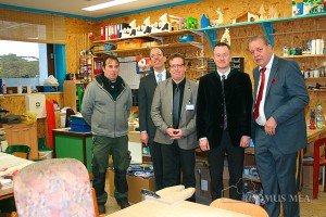 Bad Reichenhalls Oberbürgermeister Dr. Herbert Lackner besucht das Sozialtherapeutische Zentrum Hallthurm