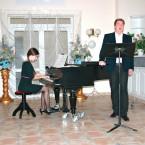 Musikstudentin Judith Engel (Klavier) und Musikstdudent Oddur Jonsson (Bariton) in Bayerisch Gmain