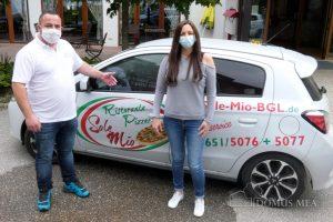 """Die Pizzeria Sole Mio aus Piding belieferte das Seniorenzentrum in Bayerisch Gmain zum internationalen """"Tag der Pflegenden"""""""